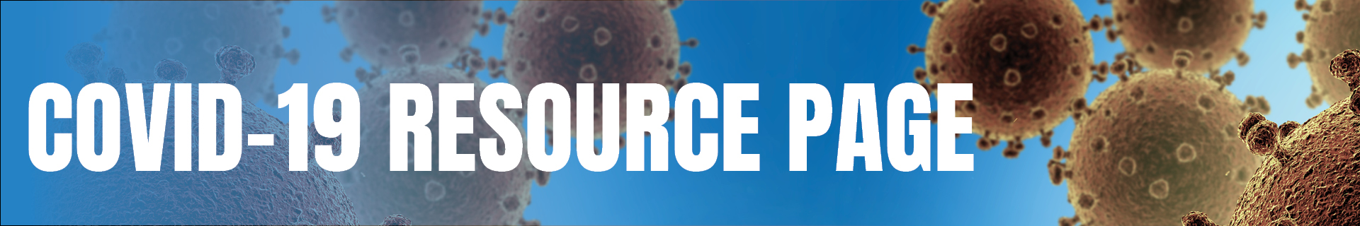 Polk County COVID-19 Resource Page Banner with Background Image of Virus Cells